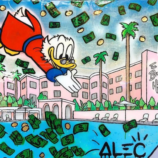 Scrooge Diving Beverly Hills by Alec Monopoly