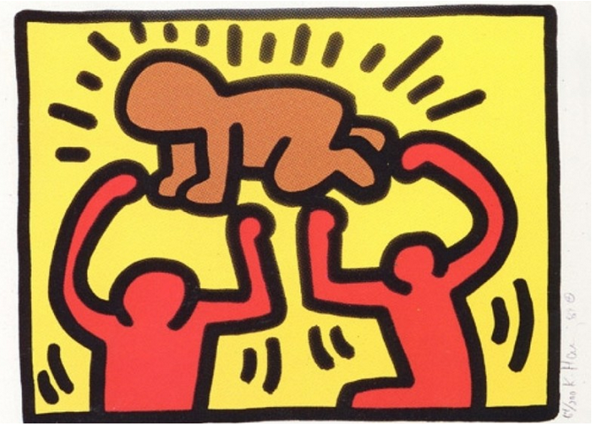 2 Pop Shop IV by Keith Haring