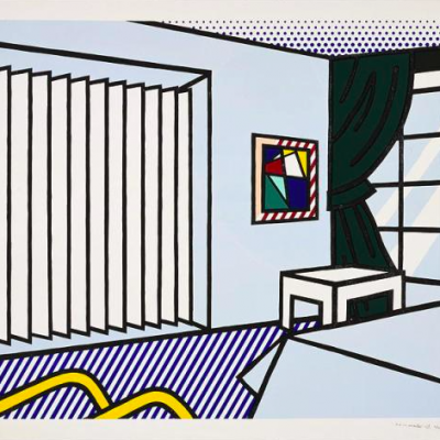 interior series, Roy Lichtenstein , pop art,Bedroomby Roy Lichtenstein
