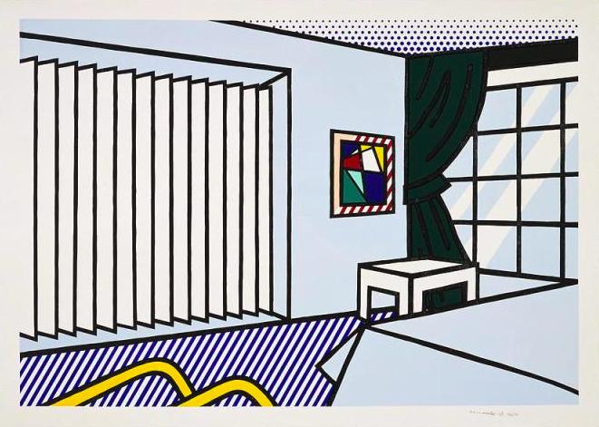 interior series, Roy Lichtenstein , pop art,Bedroomby Roy Lichtenstein