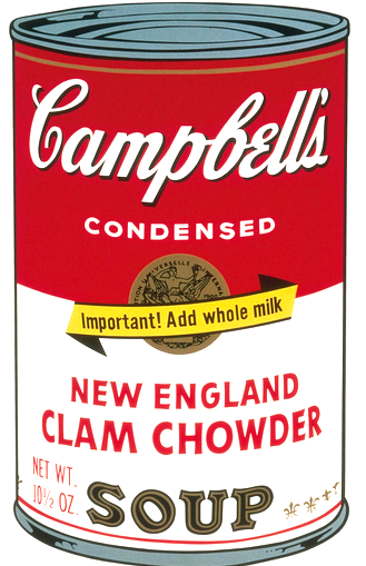 New England Clam Chowder by Andy Warhol