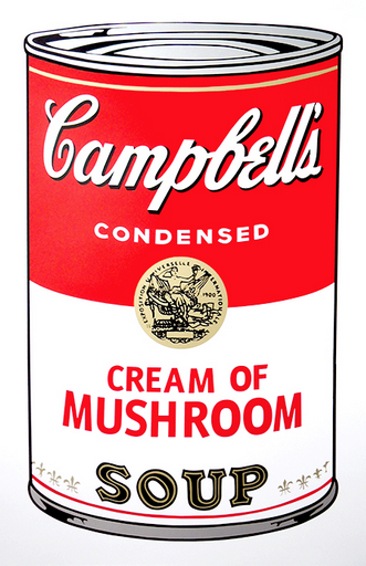 Cream of Mushroom Soup by Andy Warhol