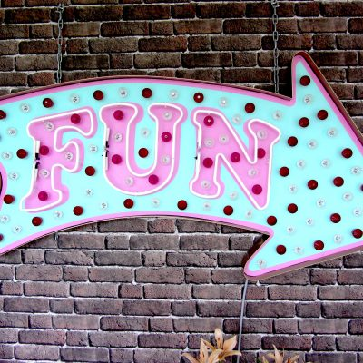 fun, chris bracey, neon art, brace