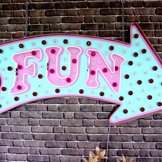 fun, chris bracey, neon art, brace