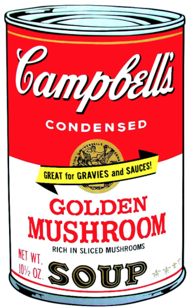 Golden Mushroom by Andy Warhol