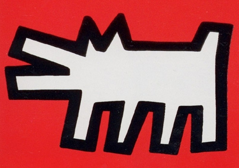 Barking Dog by Keith Haring