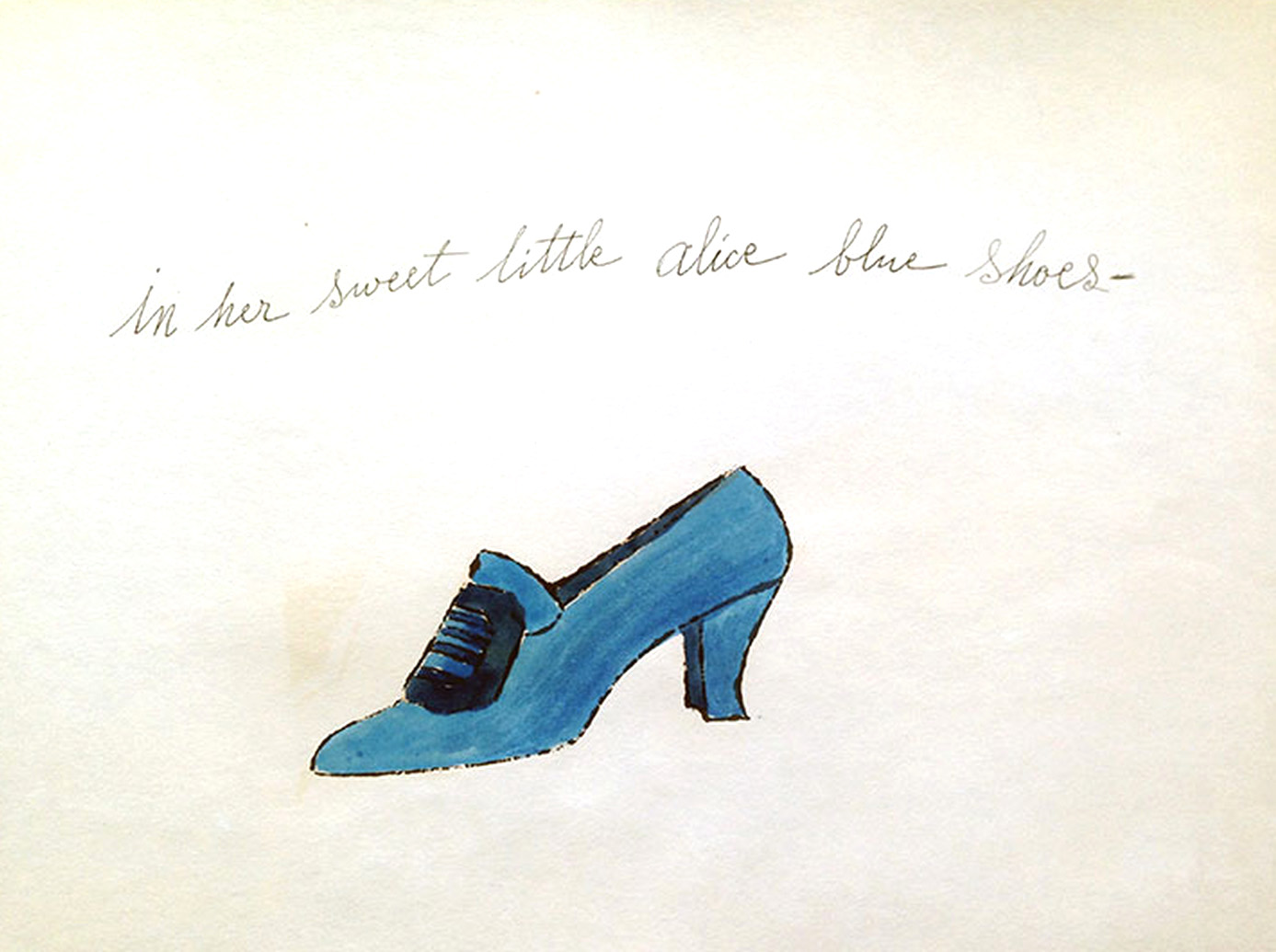 Alice Blue Shoe by Andy Warhol