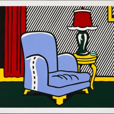 interior series. Roy Lichtenstein, pop,La Sortie by Roy Lichtenstein