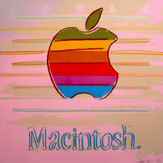 Apple, Macintosh, andy warhol, pop art, warhol, Apple (Macintosh) Ad by Andy Warhol