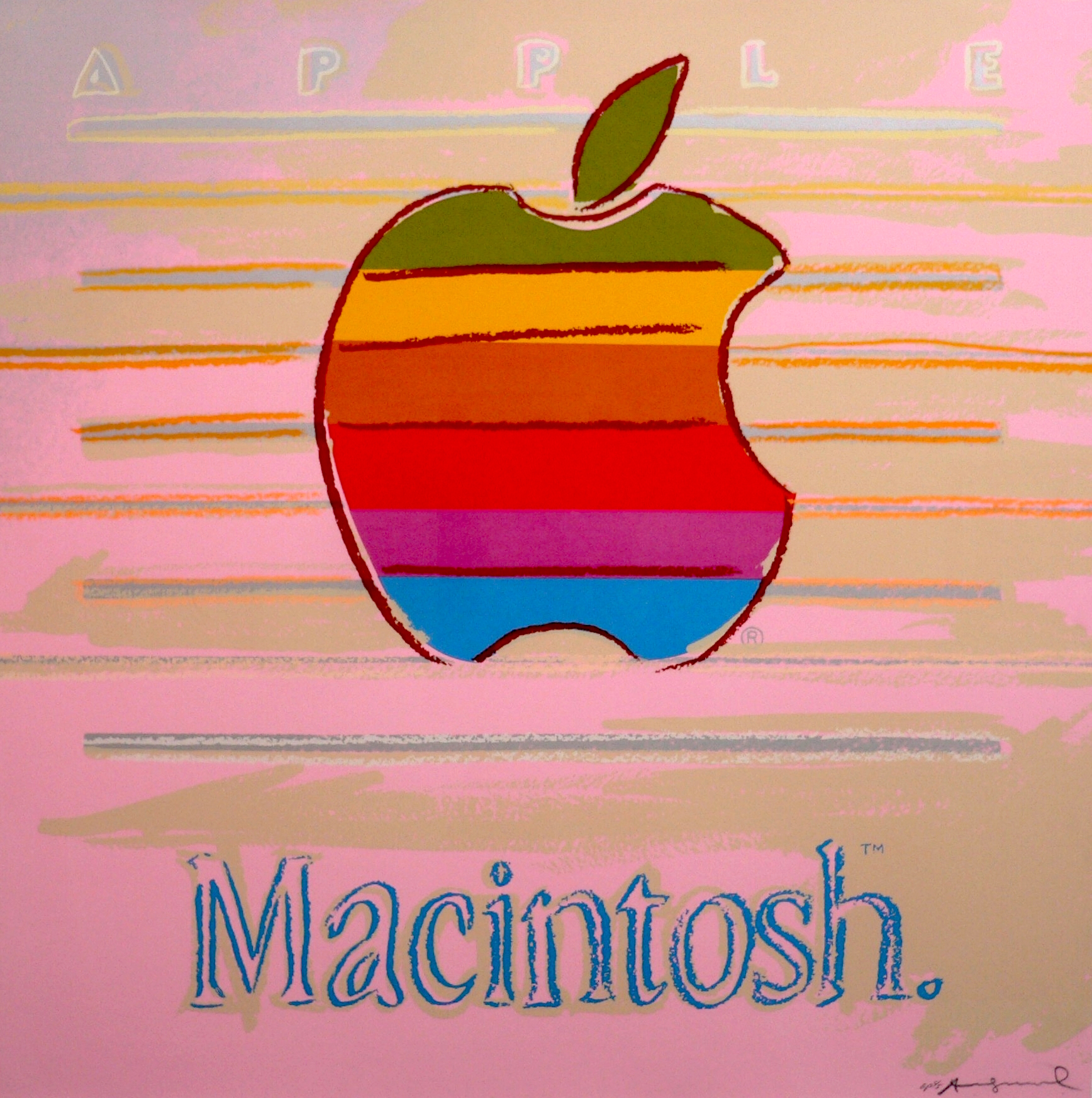 Apple (Macintosh) Ad by Andy Warhol