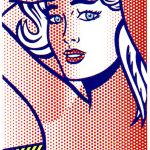 roylichtenstein, lichtenstein, Nude with Blue Hair by Roy Lichtenstein, pop,