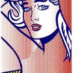 roylichtenstein, lichtenstein, Nude with Blue Hair by Roy Lichtenstein, pop,
