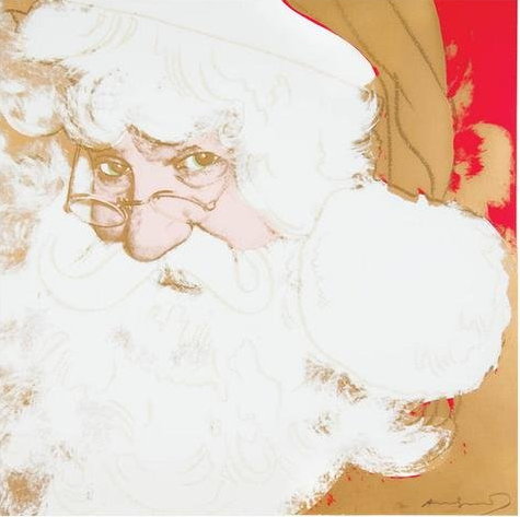 Santa Claus by Andy Warhol