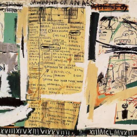 pop, basquiat, jawbone of an ass, estate series