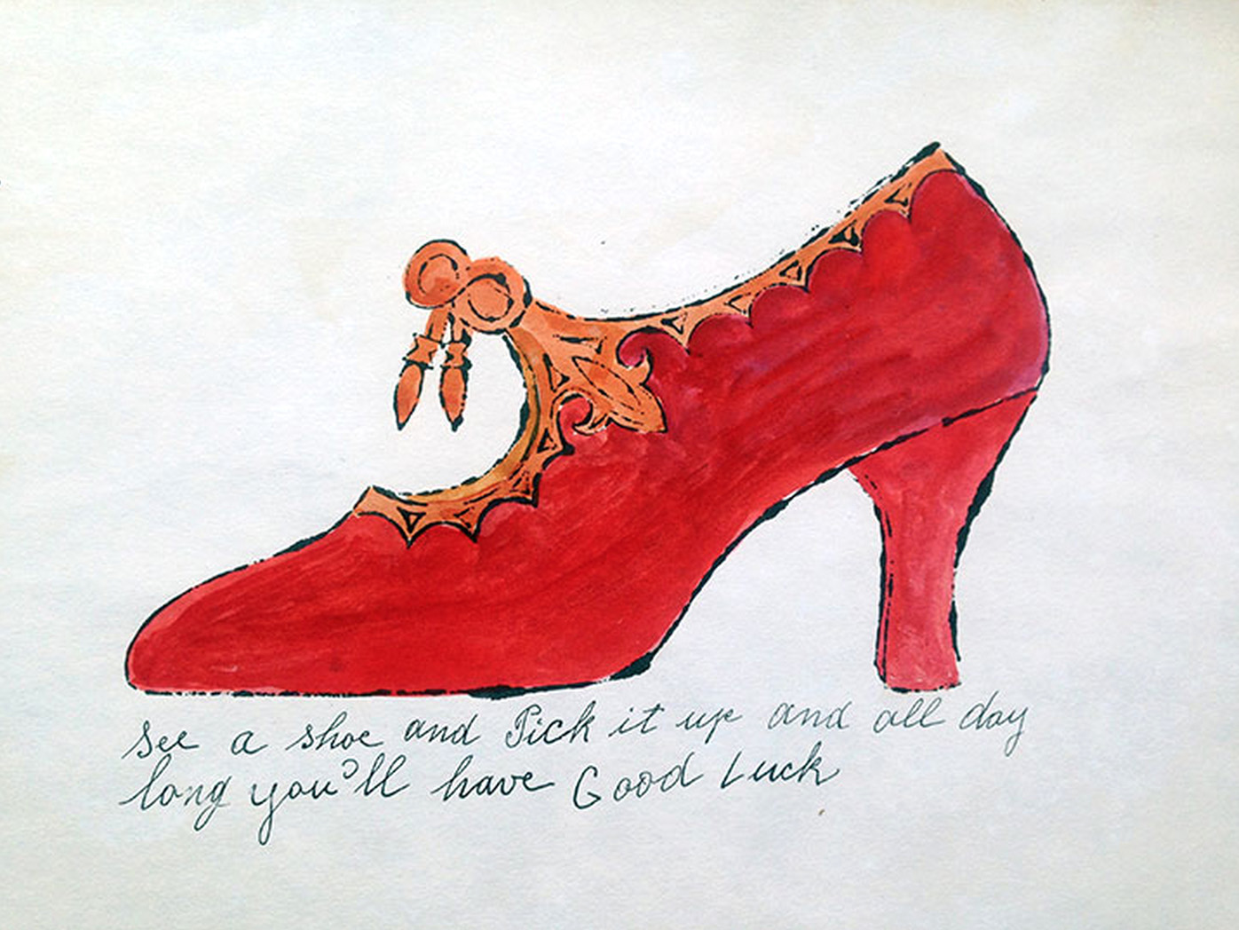 See a shoe Pick it Up from the Shoe Portfolio by Andy Warhol