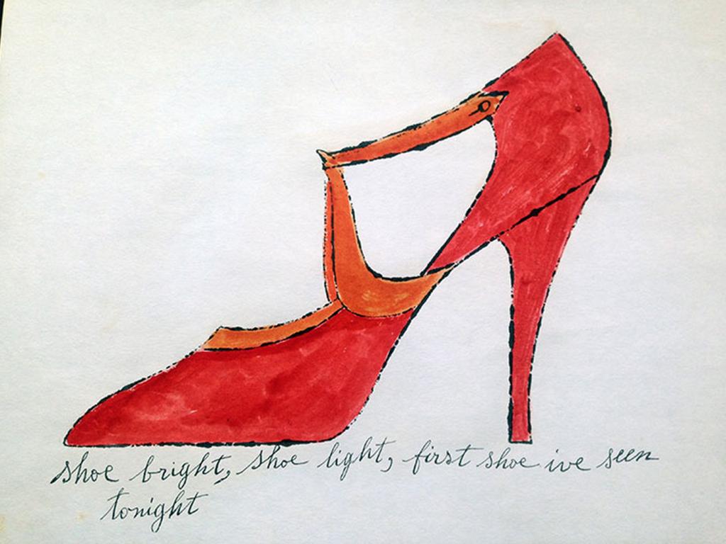 shoe bright shoe portfolio by andy warhol guy hepner. Black Bedroom Furniture Sets. Home Design Ideas