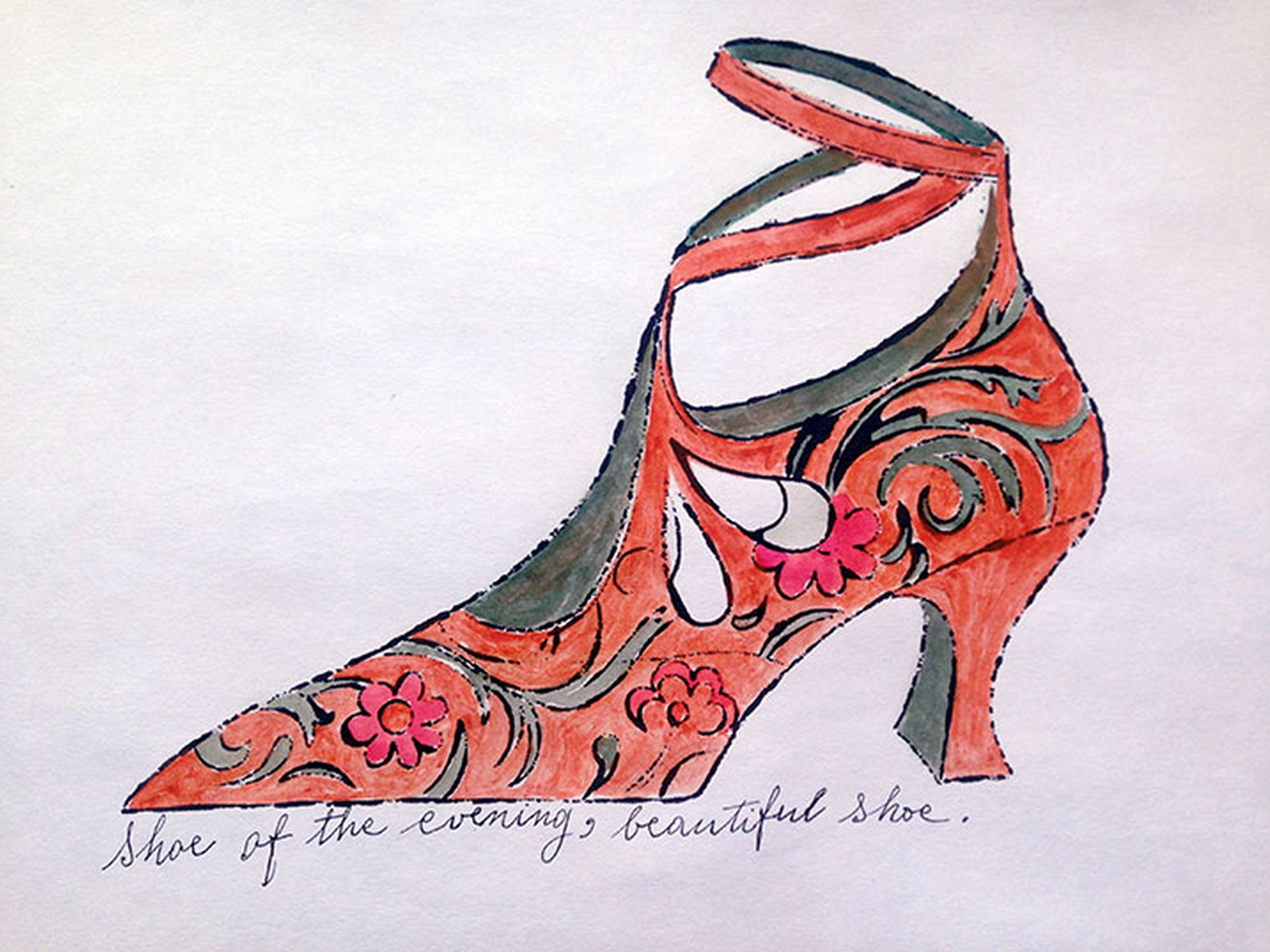 Shoe of the Evening, Beautiful Shoe – Shoe Portfolio by Andy Warhol