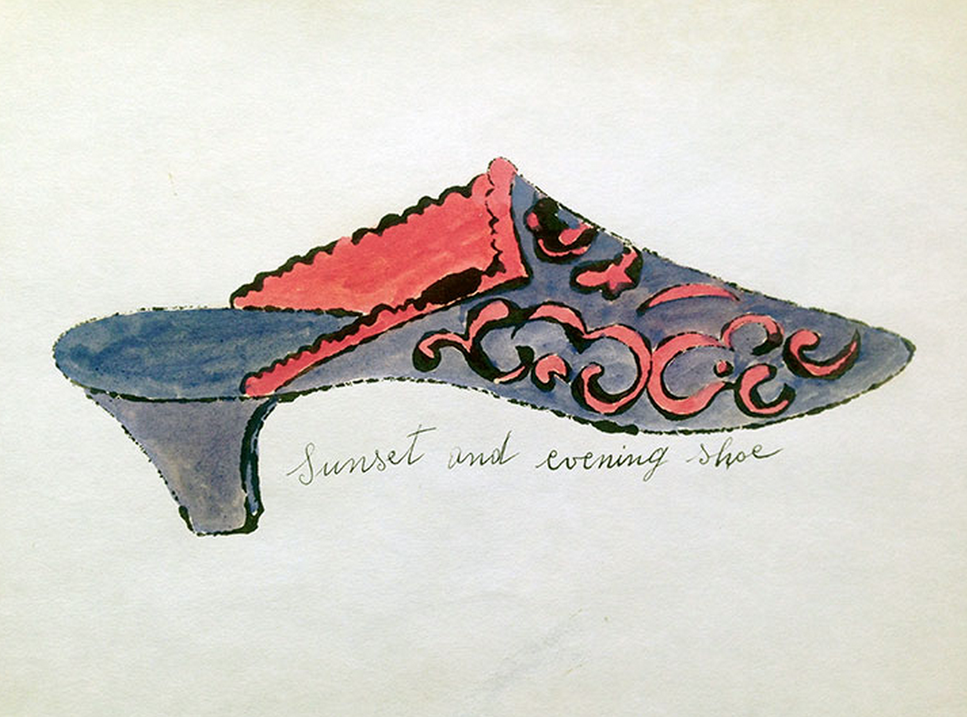 Sunset and Evening Shoe by Andy Warhol