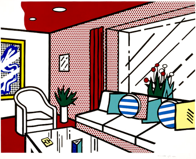 the living room by roy lichtenstein guy hepner rh guyhepner com living room design clipart living room furniture clipart