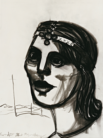 Untitled  Work on Paper by George Condo