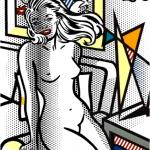 yellow nude, Roy Lichtenstein, pop art , nudes, Yellow Nude by Roy Lichtenstein