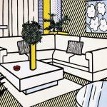 roy lichtenstein, interior series, pop art,Yellow Vase by Roy Lichtenstein