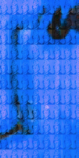 You and Me+ Warhol (Blue) Detail