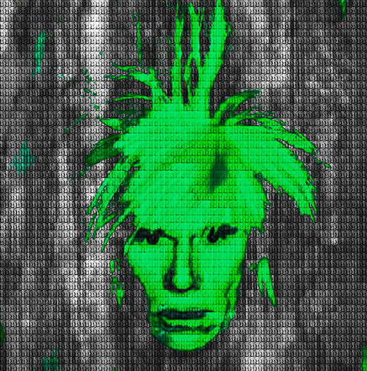 Green Andy Warhol by Alex Cao