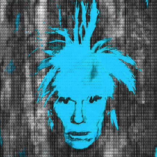 Sky Blue Andy Warhol by Alex Cao