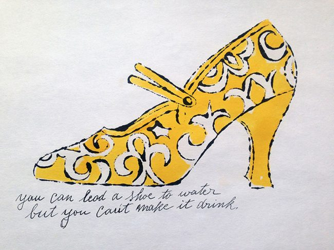shoes, andy warhol, pop art , andy warhol shoe portfoilio