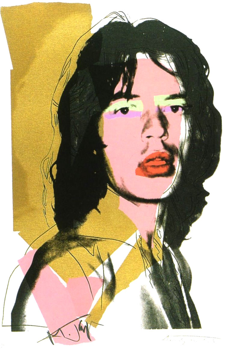 andy warhol mick jagger 1975 print for sale guy hepner. Black Bedroom Furniture Sets. Home Design Ideas