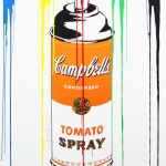 mr.brainwash, prints, pop art, graffiti, andy warhol, soup cans, spray paint