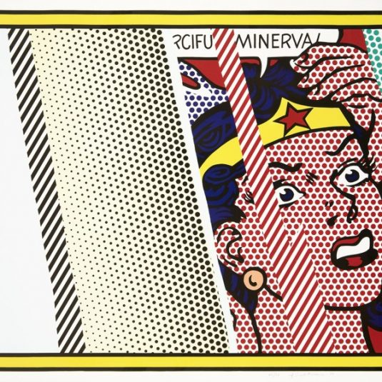 roy lichtenstein, pop art, reflections,Reflection on the Minerva by Roy Lichtenstein
