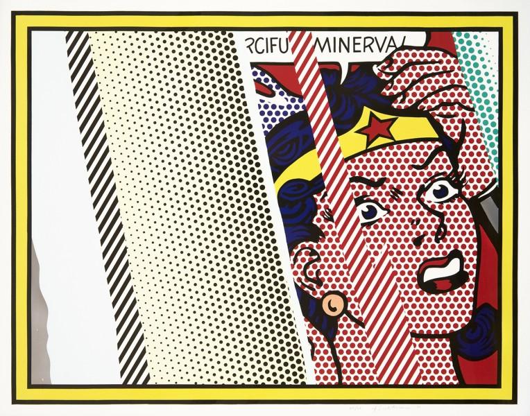 roy lichtenstein, pop art, reflections,Reflection on the Minerva by Roy Lichtenstein