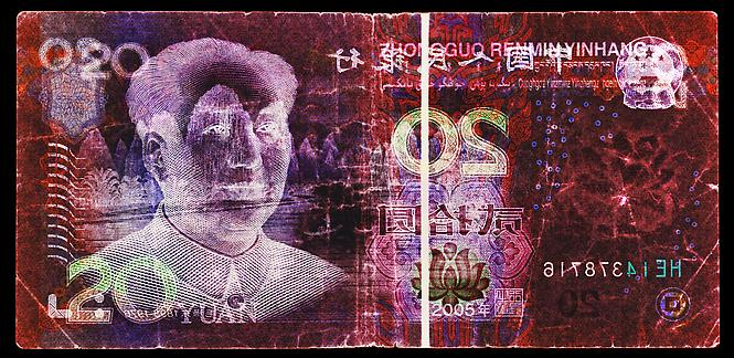 20 Chinese Yuan by David LaChapelle