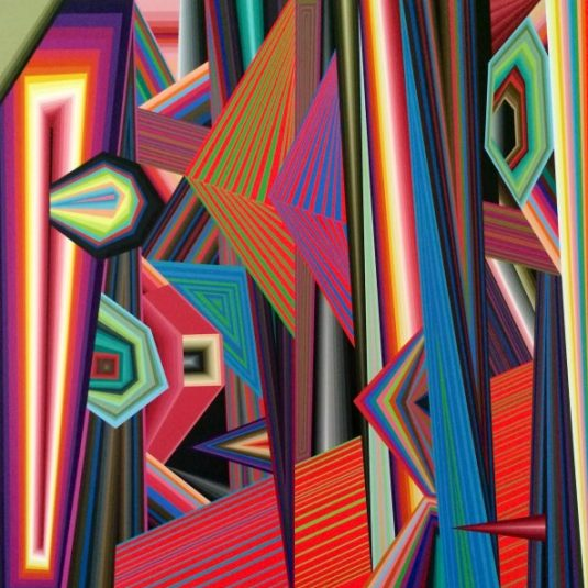 Abstract Painting, Hard-Edged, Line, Form and Color, Patterns, Comic/Cartoon, United States, Painting, Dynamism, Graffiti/Street Art, Contemporary Color Fields