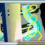 roy lichtenstein, pop art, reflections,Reflection on Brushstroke