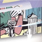 roy lichtenstein, pop art, Reflection on Soda Fountain