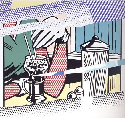 roy lichtenstein, pop art, Reflection on Soda Fountain