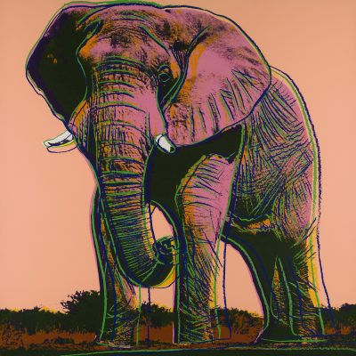 andy warhol, pop art, prints, andy warhol elephant, endangered species, ANDYWARHOL, POPART