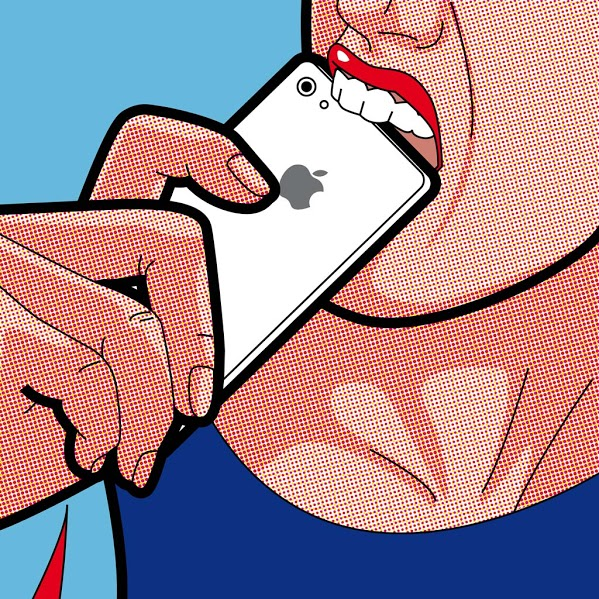 Biting The Apple by Greg Guillemin