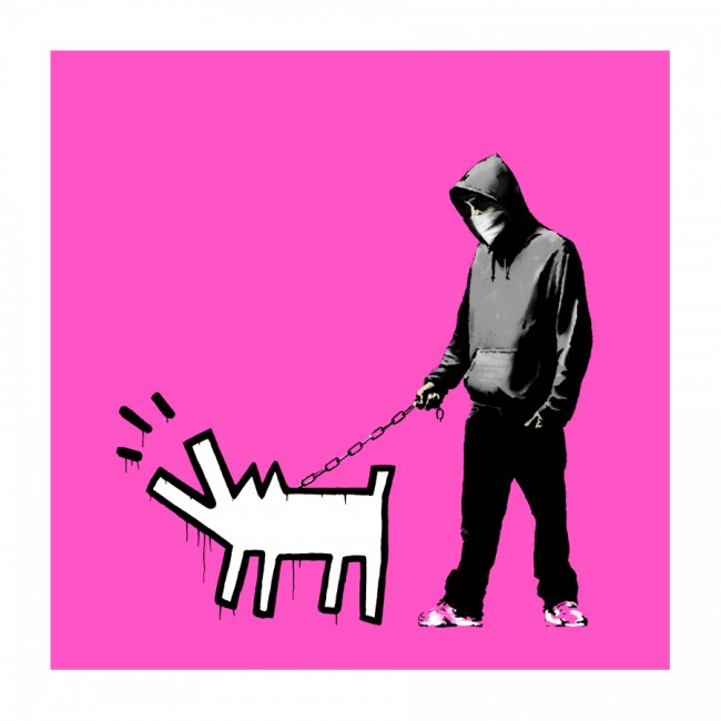 Pink Choose Your Weapon by Banksy