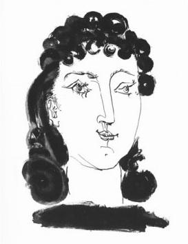 Femme aux Cheveux Boucles