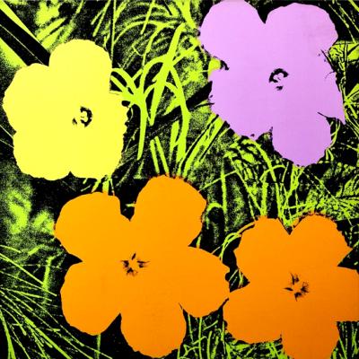 flower, andy warhol flowers, andy warhol, pop art
