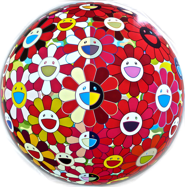 Flowerball Red 3D by Takashi Murakami