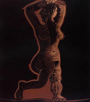 Grand Nu De Femme Linocut by Picasso