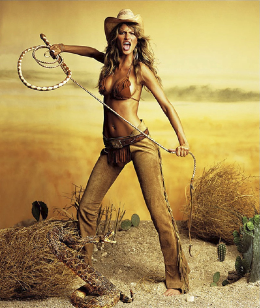 Gisele Cowboy by Mark Seliger