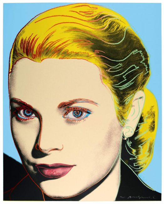 andy warhol, pop art , prints, grace kelly