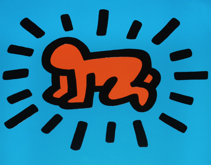 Radiant Baby By Keith Haring Guy Hepner