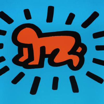 Keith Haring Icons , haring, keithharing, icons by keith haring, dog by keith haring, radiant baby by keith haring